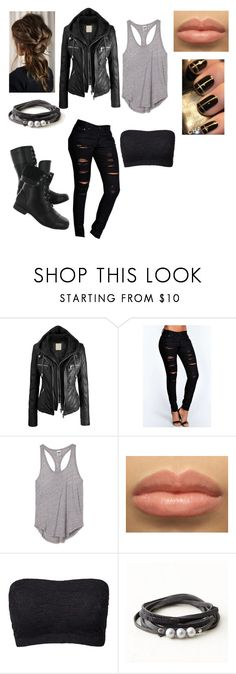 """""""Biker Girl"""" by daisybriones ❤ liked on Polyvore featuring Boohoo, Hush Puppies, Victoria's Secret PINK, Magic and Monday"""