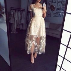 Image about fashion in beautiful dresses by la mode Short Sleeve Prom Dresses, Homecoming Dresses Long, A Line Prom Dresses, Formal Evening Dresses, Elegant Dresses, Pretty Dresses, Sexy Dresses, Beautiful Dresses, Dress Outfits