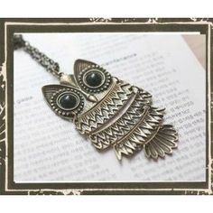 Owl bookmark -  This reminds me of a necklace my mom had.