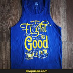 Fight the good fight of faith. 1 Thimothy 6:12  $5.00 of any purchase from our online store will be donated to Experience Mission Ministry. The donation will allow Experience Mission to bring the Gospel to underdeveloped communities throughout Africa, the Caribbean & Latin America. visit www.shoprisen.com to learn more about this ministry. May 8 - June 8