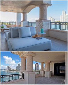 Floor-to-ceiling glass and expansive terraces at this luxurious building welcome the Florida sunshine for optimal indoor/outdoor living and year-round enjoyment of Fisher Island's beautiful natural surroundings. #KobiKarpArchitecture #Design #FisherIsland #Miami #LuxuryRealEstate #Architecture #PalazzoDelSol
