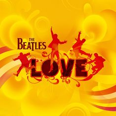 """The Beatles """"Love"""" album and Cirque de Soleil show both use the iconic photo of The Beatles jumping. The Beatles jumping silhouette images are shown in the logo from left to right as Ringo Starr, Paul McCartney, John Lennon and George Harrison. Beatles Songs, Beatles Album Covers, Beatles Party, Beatles Guitar, Beatles Band, The Beatles Love Album, Beatles Love Show, Concerts, Amor"""