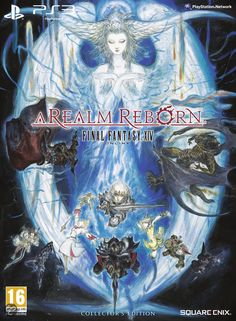 Final Fantasy XIV: A Realm Reborn - Collector's Edition  Amano's concept art on the cover!