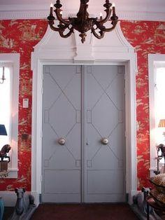 nailhead trim on doors!