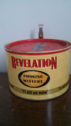 Vintage Revelation Tobacco Tin by CollectorsAgency on Etsy