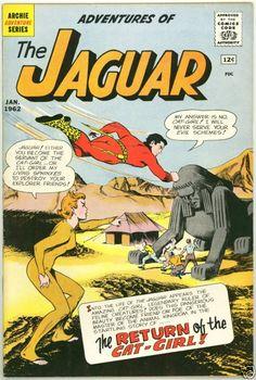 Adventures Of The Jaguar vg Catgirl Cat Girl / Archie Superhero Old Comics, Archie Comics, Vintage Comics, Comic Book Covers, Comic Books, Comic Art, Pulp Fiction Comics, Comic Book Superheroes, Silver Age Comics