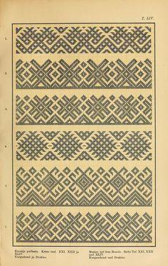 Mordvalaisten pukuja kuoseja. Trachten und Muster der Mordvinen Costumes and patterns of Mordvinians (337 of 638)