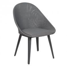 Design Gartenmöbel OUTLIV. Samoa Designstuhl Aluminium/Textilene Grau
