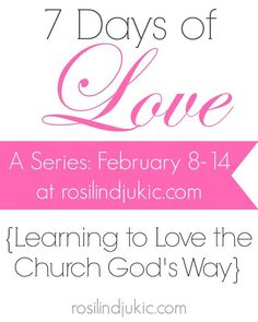 What does 1 Corinthians 13 teach us about loving the church? Join me for the next 7 days to discover how we are supposed to love the body of  Christ the way Paul instructed.