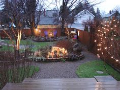 No Grass Backyard Ideas | ... backyard in Dec 2011 with no snow, but much to look at even in winter