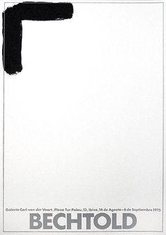 "Erwin Bechtold: Galerie van der Voort, 1975: ""BECHTOLD"" Galerie van der Voort - Ibiza, 1975 Original-Farbserigraphie Vorzugsausgabe auf leichtem Karton ... Ibiza, Van, Letters, Design, Poster Poster, Posters, Paper Board, Poster, Vans"