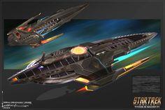 Done for Star Trek online. Star Trek Online, Spaceship Art, Spaceship Design, Starwars, Trek Deck, Starfleet Academy, Starfleet Ships, Space Movies, Starship Concept