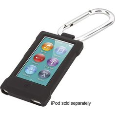 Griffin Technology - Courier Clip Case for Apple® iPod® nano 7th Generation - Black - Angle