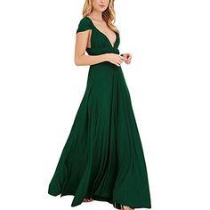 Lover-Beauty Kleider Damen V-Ausschnitt Rückenfrei Neckholder Abendkleider Elegant  Cocktailkleid Multi-Way a4d9d79187
