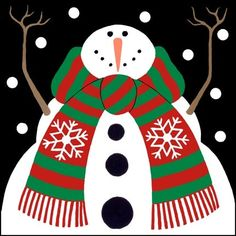 Snowflake Snowman Scarf by Stephanie Stouffer | Ruth Levison Design