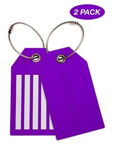 2 TUFFTAAG Luggage Tags, Travel Bag Tag Set and Identifier Labels for Suitcases #TUFFTAAG