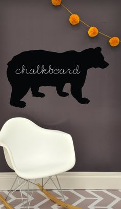 Bear    CHALKBOARD  WALL DECAL by TheLovelyWall on Etsy, $18.00