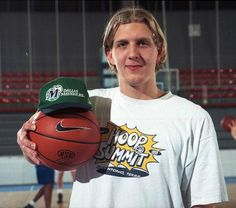 Dirk Nowitzki - 1998 after being drafted by Dallas Mavericks