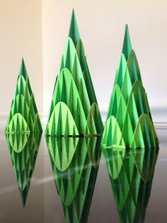 Papercrafts and other fun things: How can you make a cone with analytical geometry? Or Pretty Cone Trees!