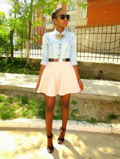 Gold Emeh: Denim and Skater Skirt