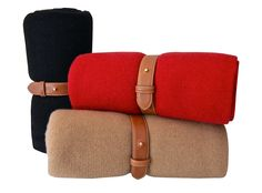 Armand Diradourian - Travel blanket with leather strap