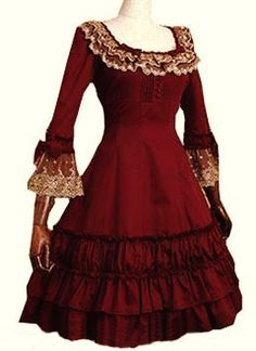 we have a perfect after-sales and fast worldwide shipping services and We sell directly from the factory to the customer,provide the high-quality cosplay costume at reasonable price. Lolita Goth, Gothic Lolita Dress, Lolita Style, Lolita Fashion, Gothic Fashion, Steampunk Fashion, Different Color Dress, Anime Inspired Outfits, Fairytale Dress