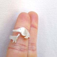 My Little Dog Ring - Handmade Sterling Silver Ring | Smiling-SilverSmith Handmade Silver Rings & Jewelry