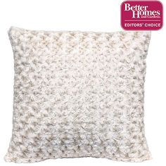 "Better Homes and Gardens Rosette 18"" Knife Edge Ivory Decorative Pillow Price"