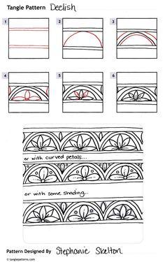 Deelish zentangle pattern by Stephanie Skelton