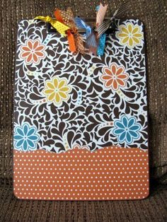 Clip board craft tutorial...and a good one at that!!!!!