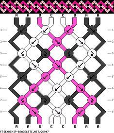 #26947 - friendship-bracelets.net 8 fils - 3 couleurs