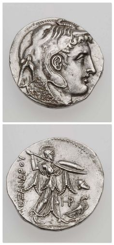 Ancient History Egypt -                                                              Tetradrachm of Kingdom of Egypt with head of deified Alexander the Great, struck under Ptolemy I, minted in Alexandria, Egypt, 315-300 B.C. | Museum of Fine Arts, Boston