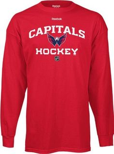 Washington Capitals Authentic Team Locker Long Sleeve T-Shirt X-Large by Reebok. $18.88. Support your team in style in this NHL Authentic Team Hockey long sleeve t-shirt from Reebok. This style shirt is exactly what the team will wear during the 2010-11 season. Features screenprinted team graphics team colors and the official Reebok logo. Made of 100% cotton. Officially licensed by the NHL.