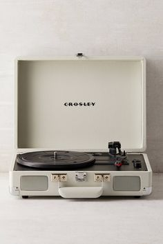 Shop Crosley Dove Grey Cruiser Bluetooth Record Player at Urban Outfitters today. We carry all the latest styles, colors and brands for you to choose from right here. Crosley Record Player, Bluetooth Record Player, Vinyl Record Player, Record Players, Vinyl Records, Record Player For Sale, Teenage Engineering, Vinyl Record Storage Shelf, Lp Storage
