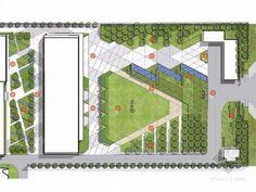Rock Solid Advice On How To Spruce Up Your Landscaping - House Garden Landscape Landscape Design Plans, Landscape Concept, Landscape Architecture Design, Lanscape Design, Paving Design, Mall Design, Site Design, Landscape Plaza, Masterplan Architecture