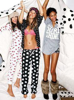 ♥ Pajama parties #skinnysoiree #poshparties #themes