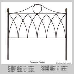 Cabecero Gotico en forja para somier de 90cm - Su estilo en forja