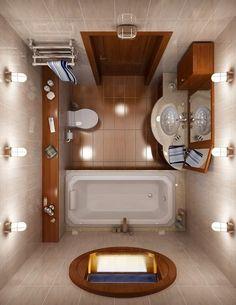 Resultado de imagem para plan salle de bain 4m2