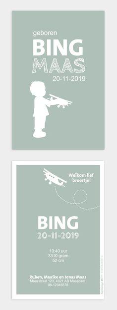 Populair geboortekaartje met silhouet van jongen met vliegtuig. Dit kaartje is geliefd onder ouders. #geboortekaartjes #birthannoucement #retro #silhouet