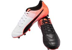 0b96722762b8c2 Black and red Kids Puma Adreno II FG Soccer Cleats. Shop for these shoes at