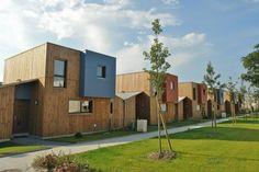 9 maisons groupées – Les maisons Memphis   Salon Maison Bois Angers