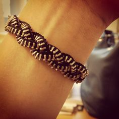 Zipper Bracelet DIY Braided Black