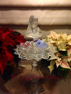 Madonna, Mother Mary, Glass Bird Bath, Glass garden art, yard art, repurposed recycled up cycled glass, unique garden decor, sun catcher,  www.TheGlassyGardenGal.com