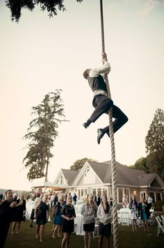 Largest rope Swing EVER!! For a Wedding!!!  destination wedding, beach weddings, wedding ideas Washington, Puget Sound venues, waterfront, event center, decorations, linens, lighting, table arrangements, chandelier, chiavari chairs, yellow, indoor, destination, big, romantic, glamorous, luxury. Seattle, Bellevue, Kirkland, Tacoma, Gig Harbor, Everett, Olalla, WA. Wedding by the sea. The Edgewater House wedding and event Venue