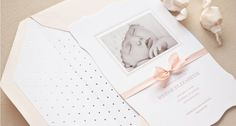 Baby girl pale pink photo announcement by Sugar Paper, Los Angeles