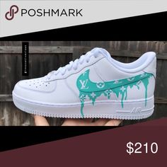 new arrive 1f979 59383 Custom Air Force One low This shoe is hand painted by myself. All White Base