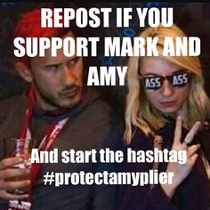 I accept the fact that Mark and Amy are together. Their relationship has nothing to do with us, so I think we should respect them and their privacy. As long as Mark is happy with her, I'm perfectly fine with it.