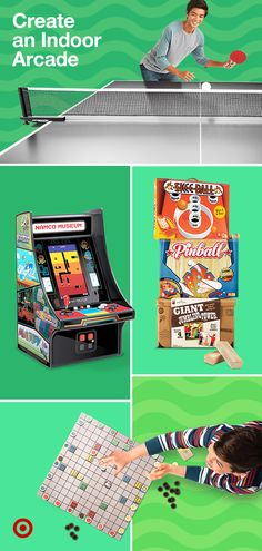 Turn your living space into an indoor game room with video games, card games, board games fun family activities. Namco Museum, Skee Ball, Diy Crafts To Do, Cute Disney Wallpaper, Indoor Games, Family Night, Summer Kids, Family Activities, Game Room