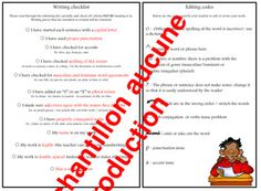 Writing Checklist, Report Cards, French Immersion, Thank You For Purchasing, Literacy, Coding, Programming