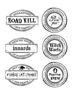 DIY Printable Spooky Halloween Labels - If you are planning a Halloween Party (for the kiddos or for the neighbors), you need to add these DIY Halloween Food Labels to your table! They are perfect for grossing everyone out Diy Halloween Food, Spooky Halloween, Vintage Halloween, Halloween Party, Halloween Stuff, Halloween Pumpkins, Vintage Witch, Spooky Scary, Halloween Activities